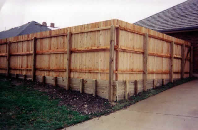 45 6 Foot Fence With Retaining Wall Fences Amp Decks By T