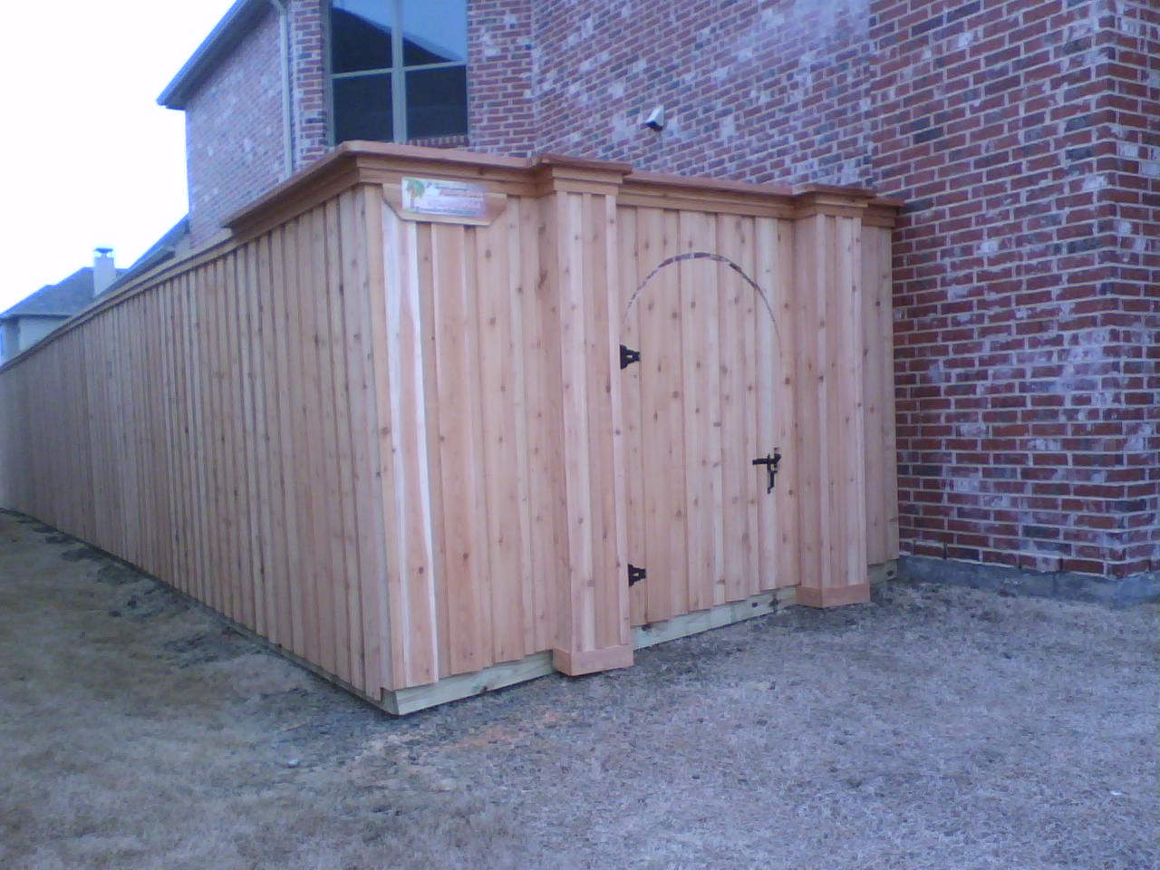 Custom Wood Fence Fences