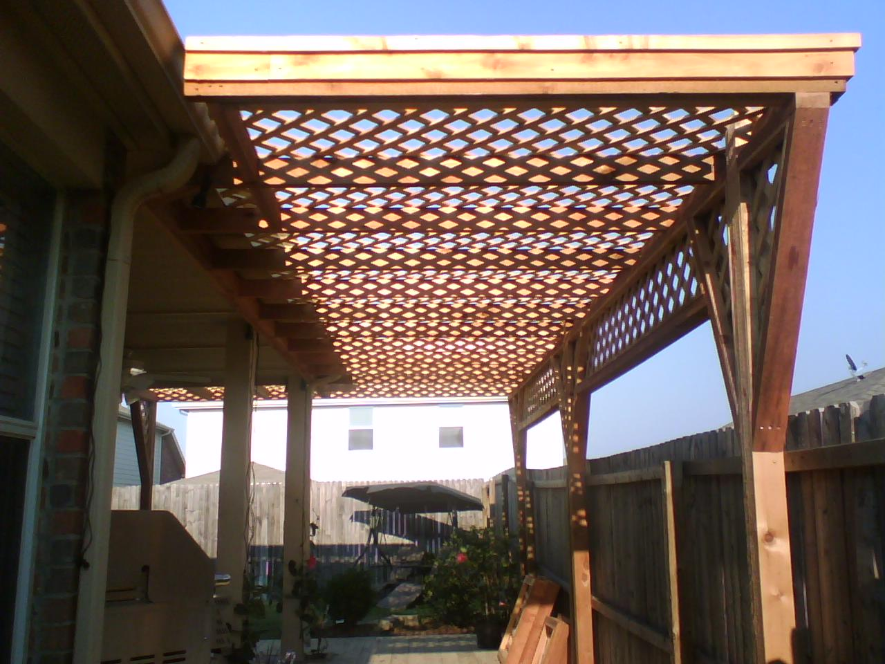 6a Cedar Lattice Arbor Fences Amp Decks By T Campbell
