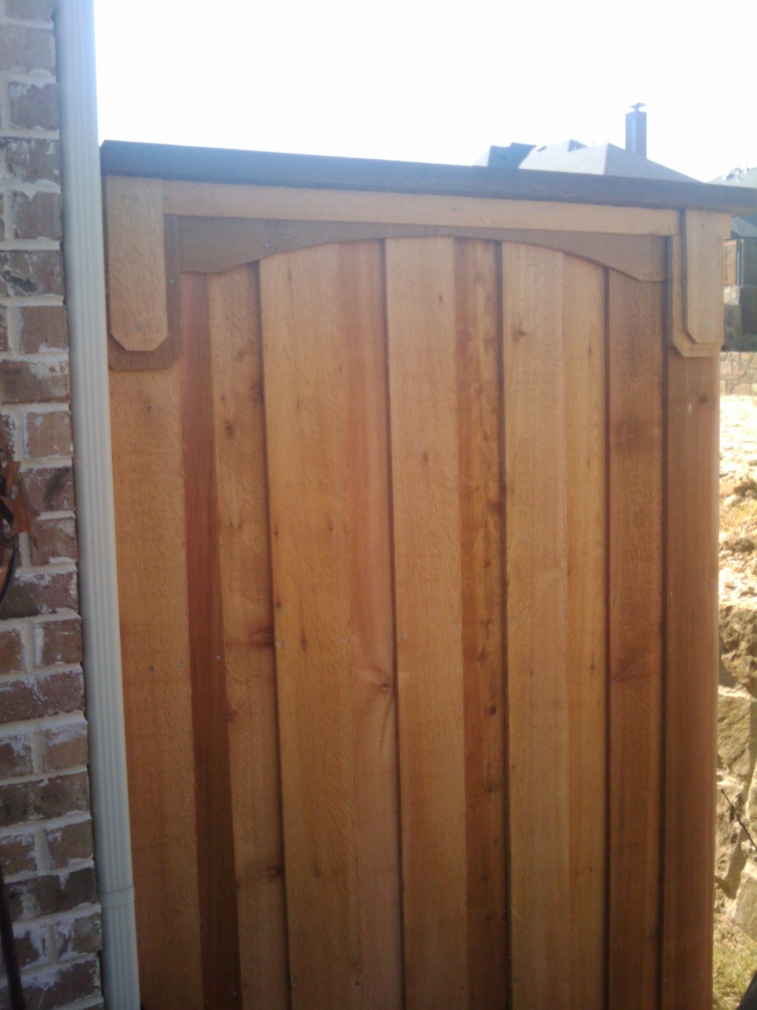 A trash can screen fence fences decks by t campbell