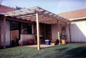 11. Fiberglass Patio Cover