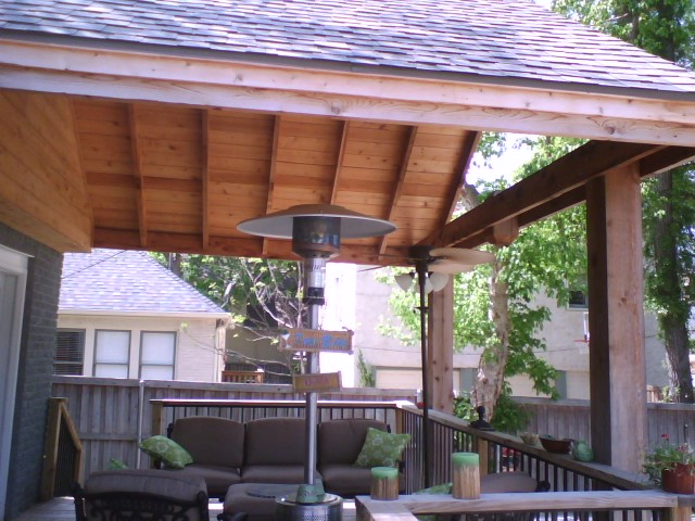 2b. Gable Comp Shingle Cedar Framed Deck Cover