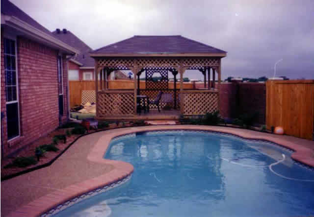 5 Gazebo By The Pool Fences Amp Decks By T Campbell