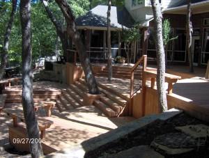 wooden patio deck