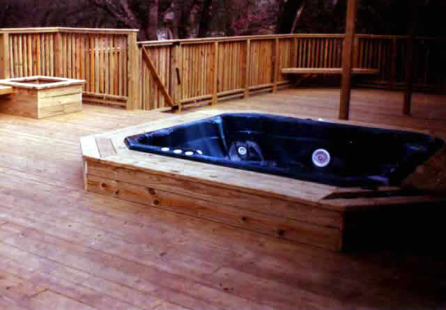 30 Treated Pine Deck With Raised Spa Fences Amp Decks By