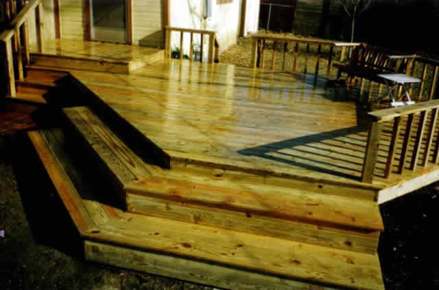 9 Treated Pine Deck With Simple Handrail Fences Amp Decks