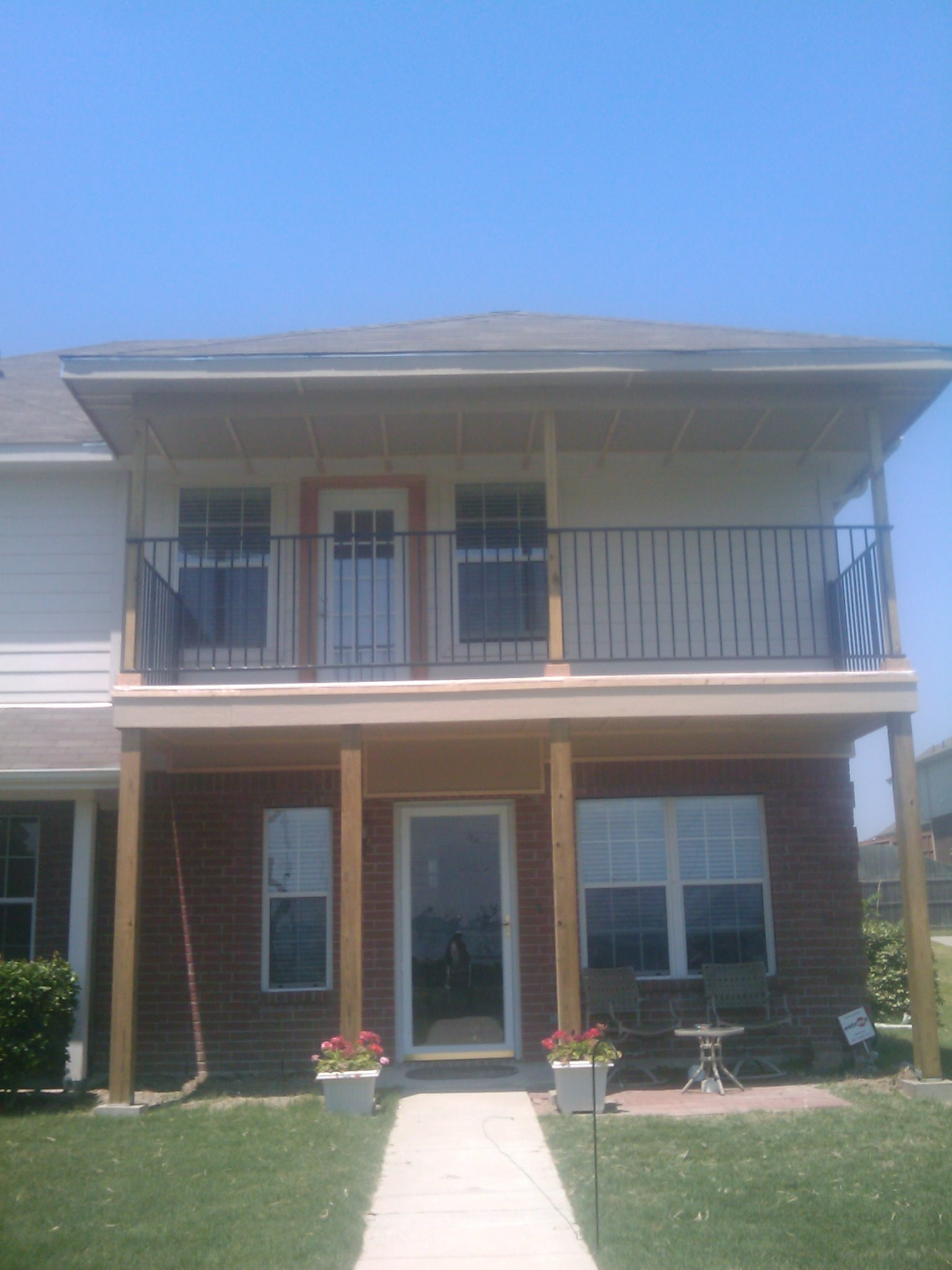 2c second story balcony fences decks by t campbell for Second story balcony
