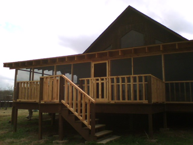 3c Lake House Screened Porch Fences Amp Decks By T Campbell