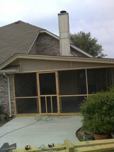 Screened Patio Cover finished