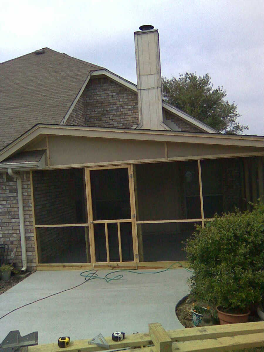 Patio Or Screened Porch: Fences & Decks By T Campbell