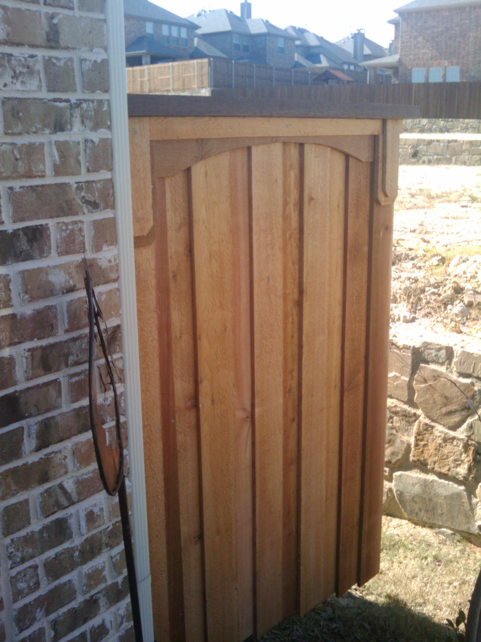 4b Trash Can Screen Fence Fences Amp Decks By T Campbell