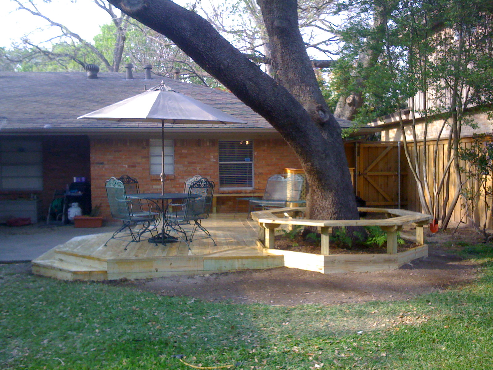 backyard deck while adding to it s value a backyard deck can really