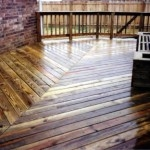 Wooden Deck with Directional Pattern
