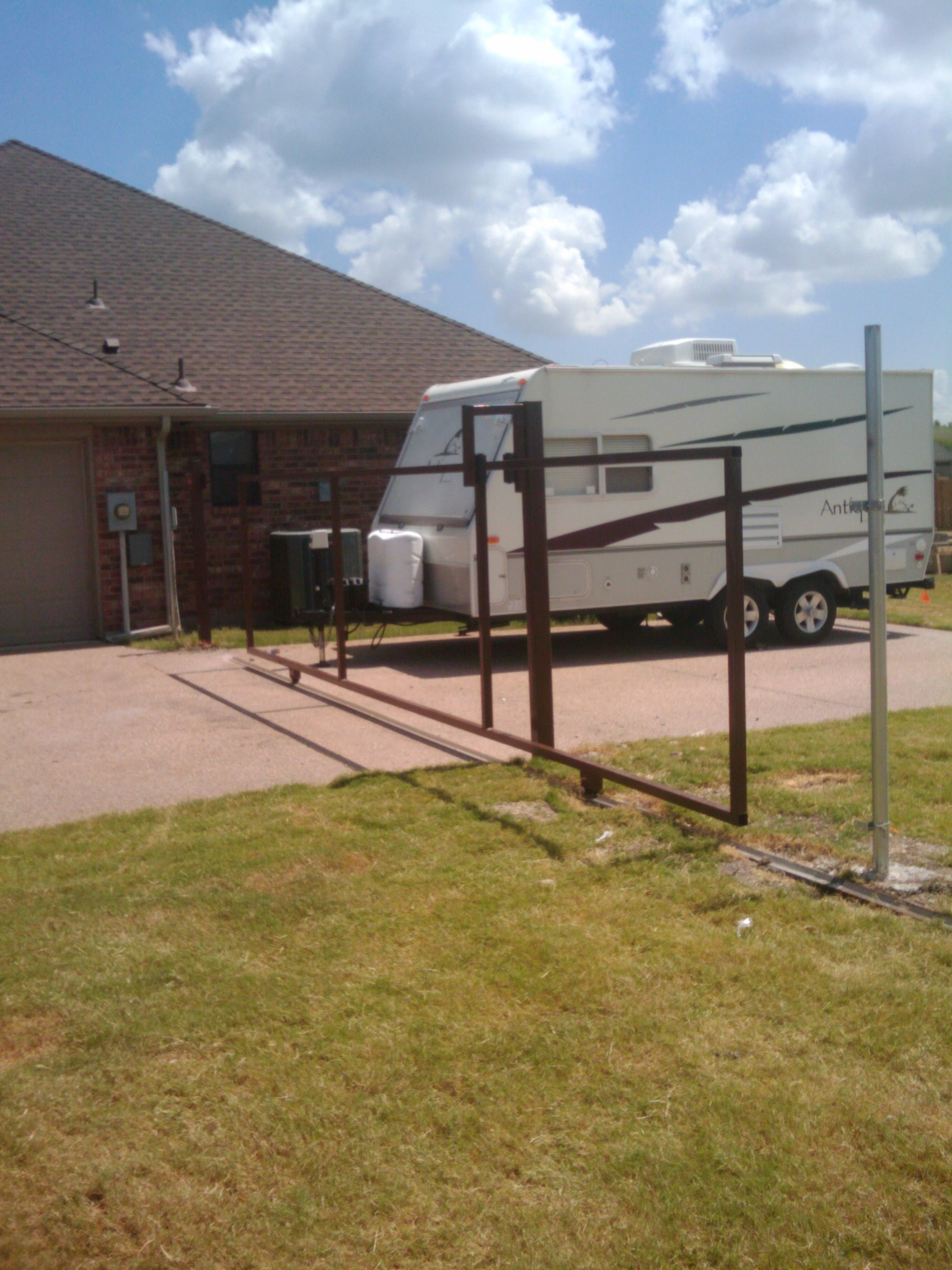 Manual slide gate fences decks by t campbell