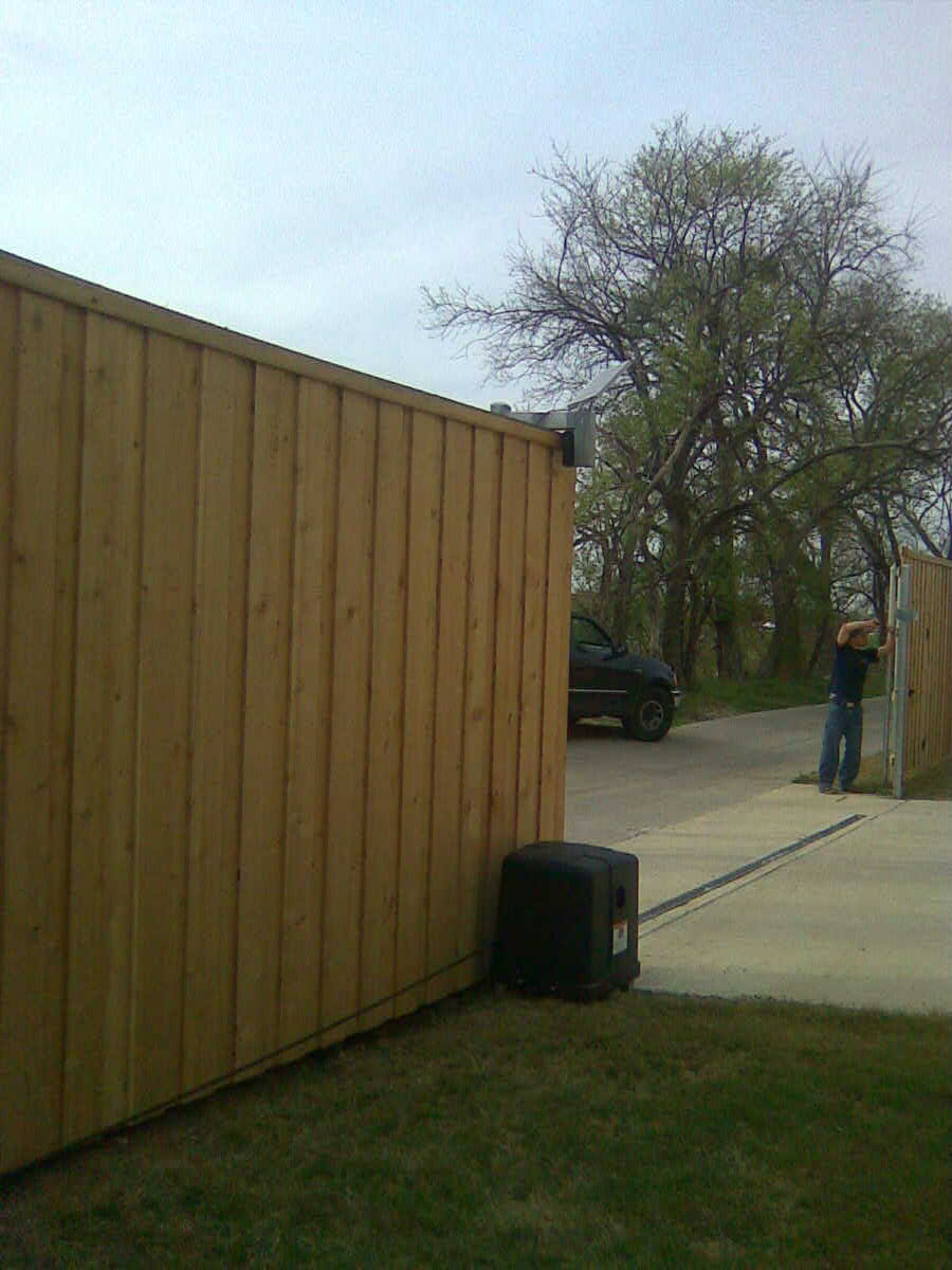 Solar Powered Electric Driveway Gate 2 Fences Decks By T Campbell